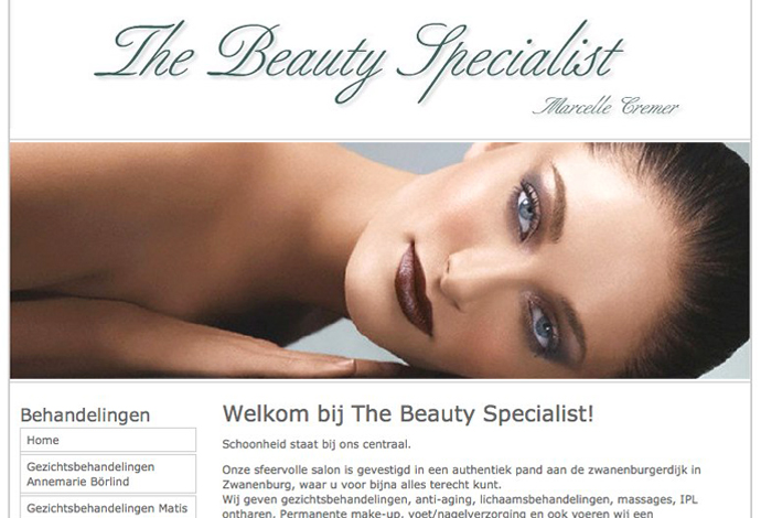 The Beauty Specialist website