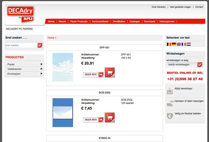 Decadry webshop