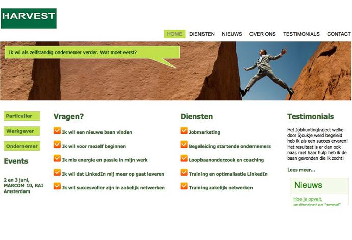 Harvest resourcing website