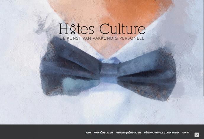 Hotes culture website ontwerp