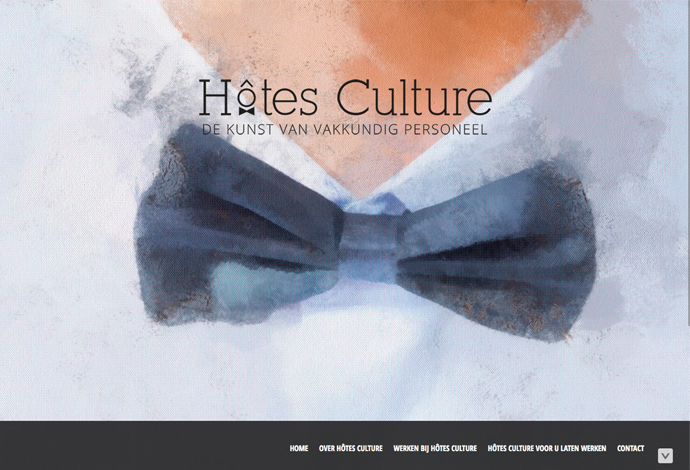 Hotes culture website ontwerp