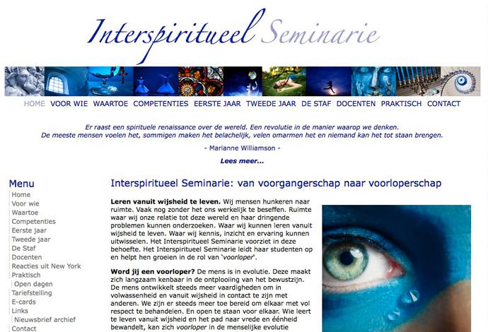 Interspiritueel Seminarie website