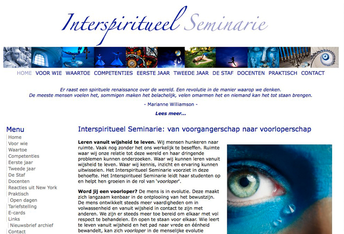Interspiritueel Seminarie website