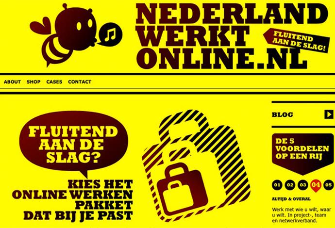 Nederland Werkt Online website
