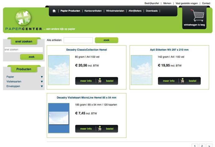 Papercenter webshop