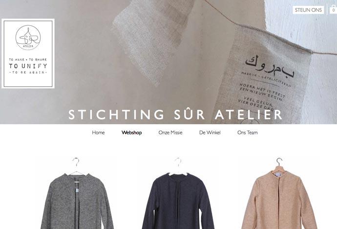 screenshot Sur Atelier webshop