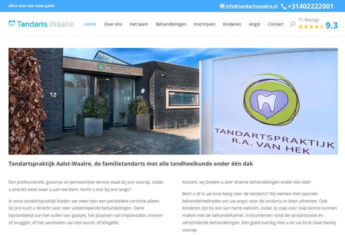 Website voor tandarts waalre